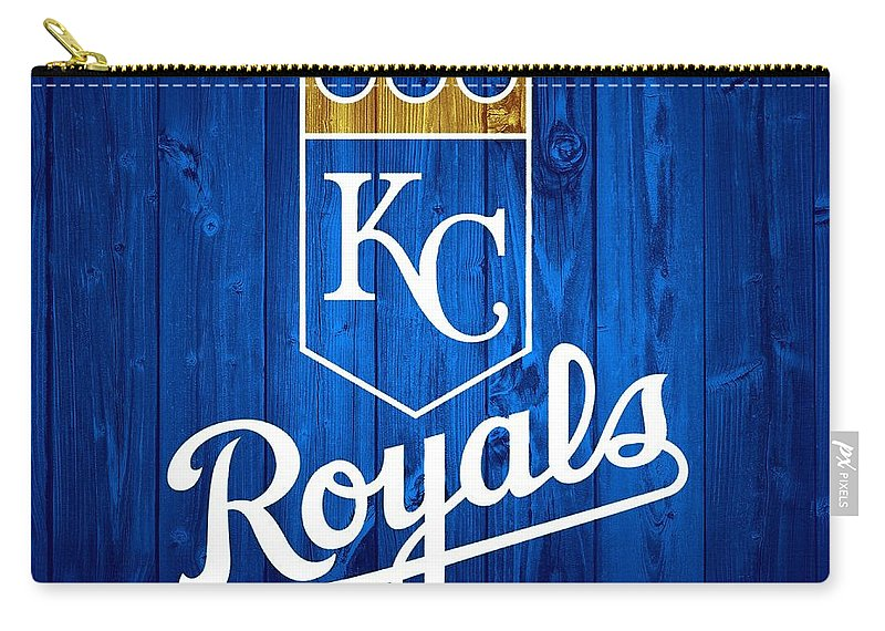 Kansas City Royals Barn Door Carry-all Pouch featuring the mixed media Kansas City Royals Barn Door by Dan Sproul