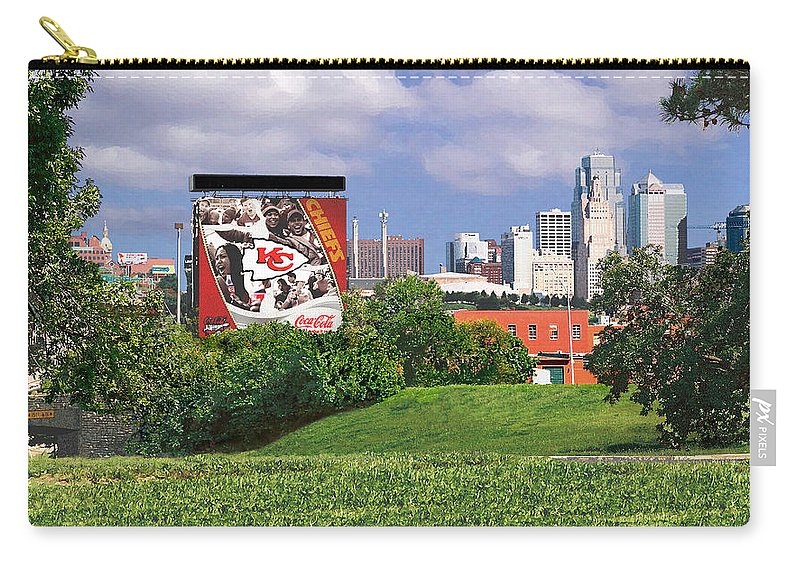 Landscape Carry-all Pouch featuring the photograph Kansas City Sky Line by Steve Karol