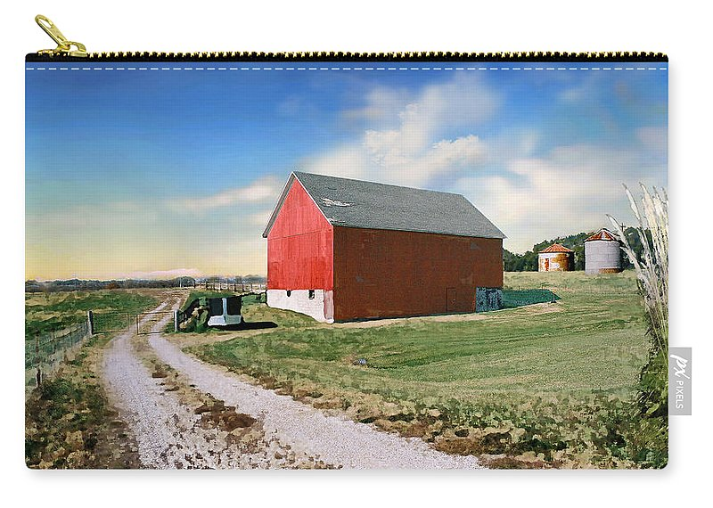 Barn Carry-all Pouch featuring the photograph Kansas Landscape II by Steve Karol