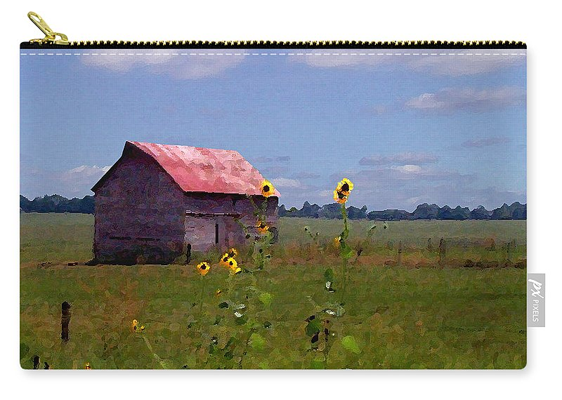 Landscape Carry-all Pouch featuring the photograph Kansas Landscape by Steve Karol