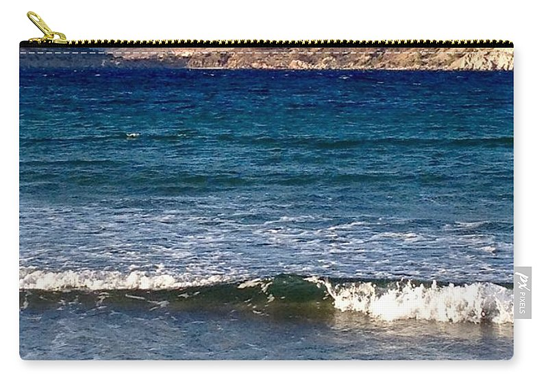 Mediterranian Sea Carry-all Pouch featuring the digital art Kardamila Chios Greece by Viktoriya Sirris