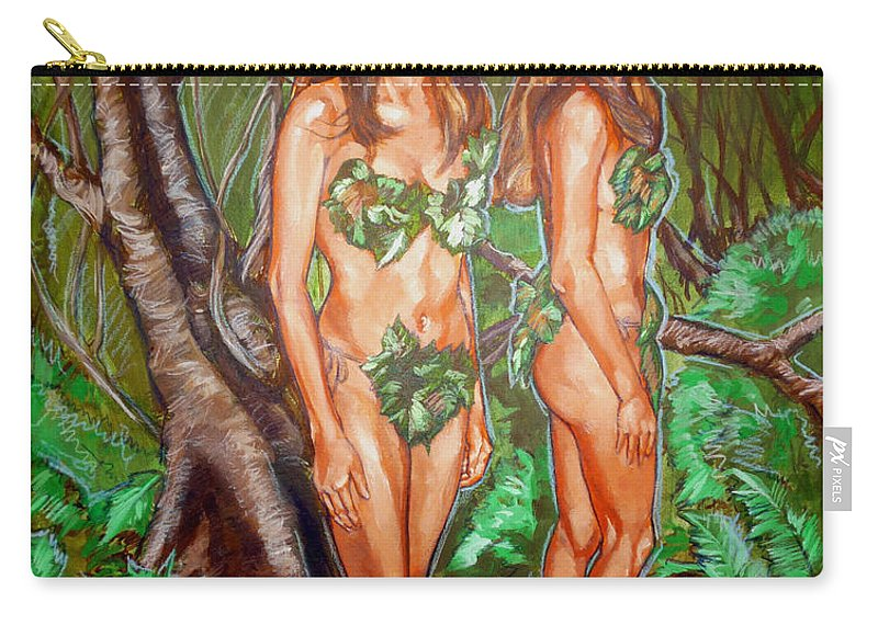Fairy Carry-all Pouch featuring the painting Karen M Times Two At Dragoncon by Bryan Bustard