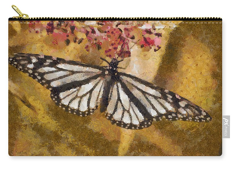 Butterfly Carry-all Pouch featuring the photograph Karma by Trish Tritz