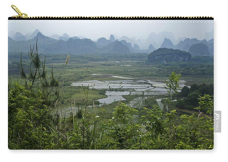 Asia Carry-all Pouch featuring the photograph Karst Landscape of Guangxi by Michele Burgess