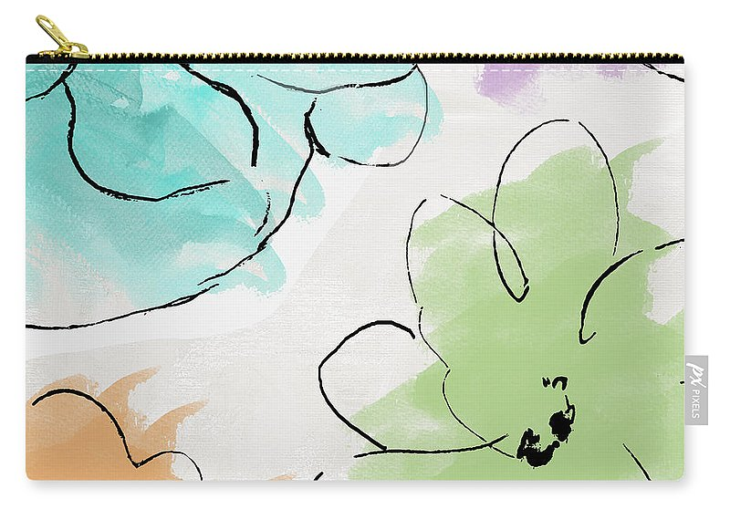 Abstract Carry-all Pouch featuring the painting Kasumi by Mindy Sommers