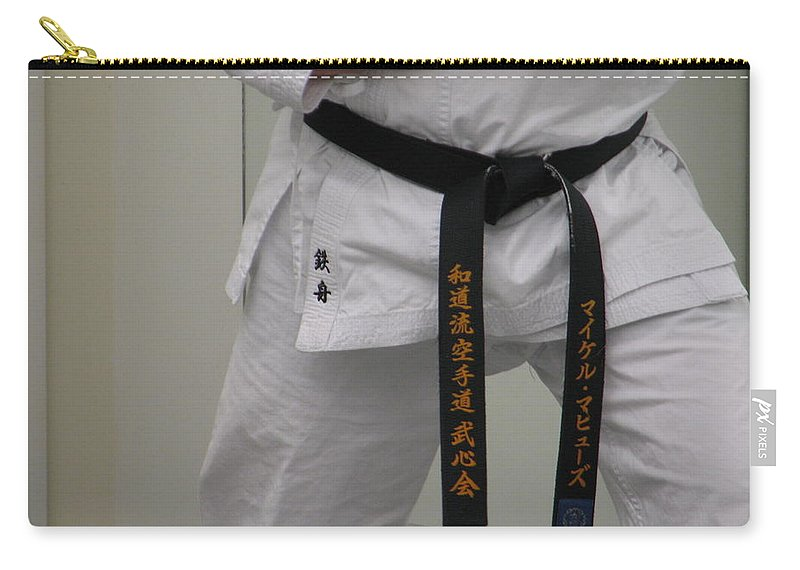 Karate Carry-all Pouch featuring the photograph Kata by Kelly Mezzapelle