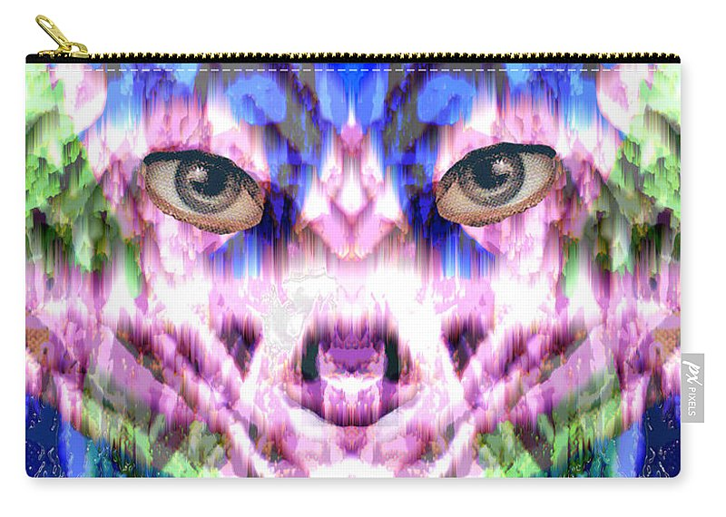 Cat Carry-all Pouch featuring the digital art Katechism by Seth Weaver