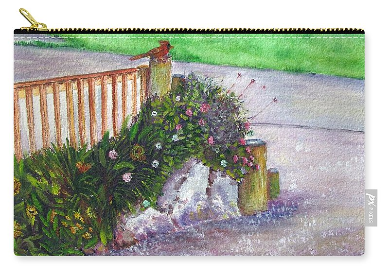 Garden Carry-all Pouch featuring the painting Kates Garden by Loretta Luglio