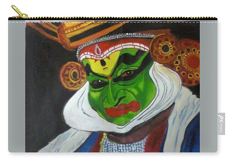 Carry-all Pouch featuring the painting Kathakali by Salini M
