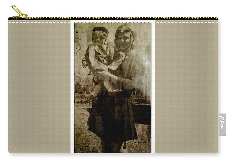 Expressive Carry-all Pouch featuring the photograph Kathy Holding Kelly by Lenore Senior