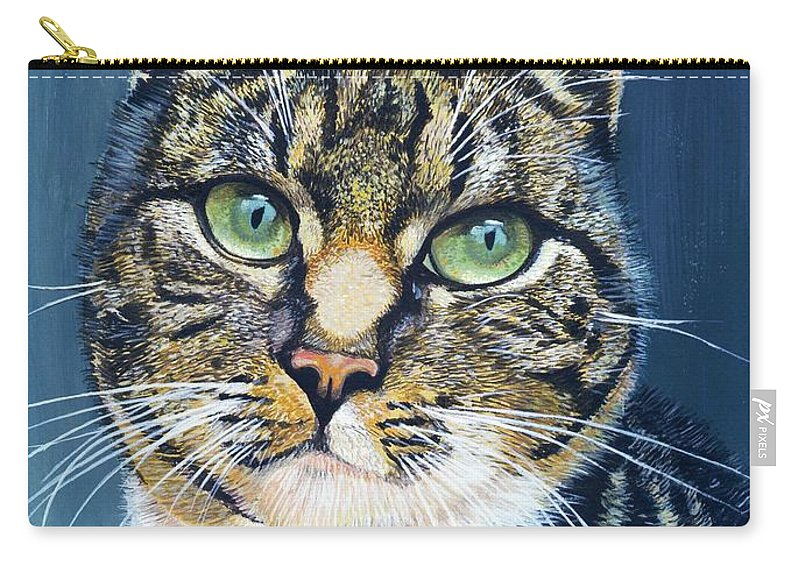 Katja Carry-all Pouch featuring the painting Katja by Arie Van der Wijst