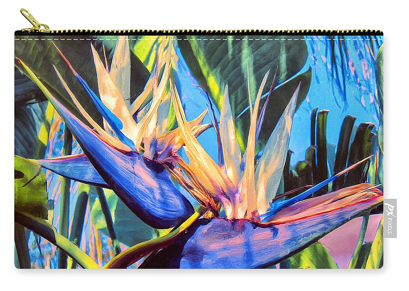 Bird Of Paradise Carry-all Pouch featuring the painting Kauai Bird Of Paradise by Dominic Piperata