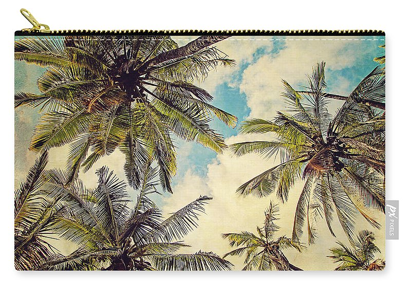 Photography Carry-all Pouch featuring the photograph Kauai Island Palms - Blue Hawaii Photography by Melanie Alexandra Price