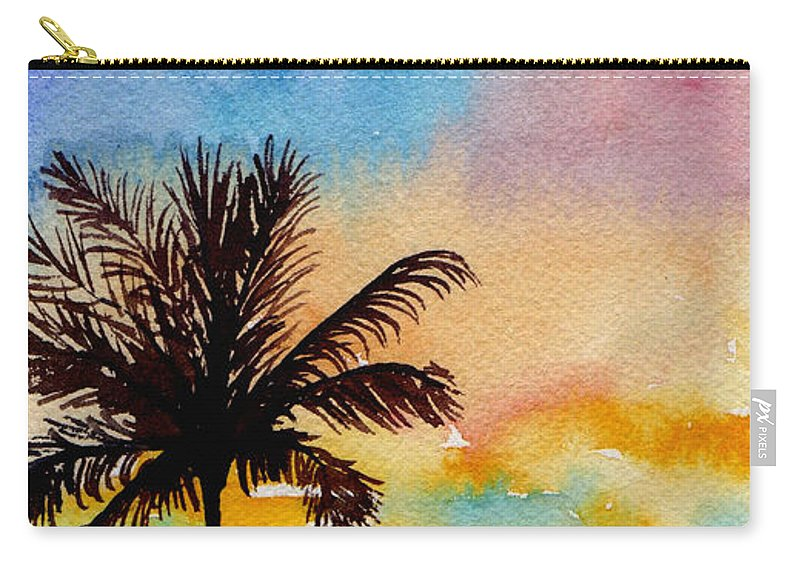 Watercolor Carry-all Pouch featuring the painting Kauai Sunset by Brenda Owen