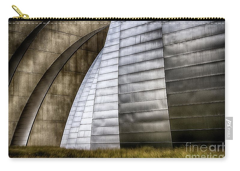 Kauffman Performing Arts Center Carry-all Pouch featuring the photograph Kauffman Performing Arts Center 4 by Doug Sturgess