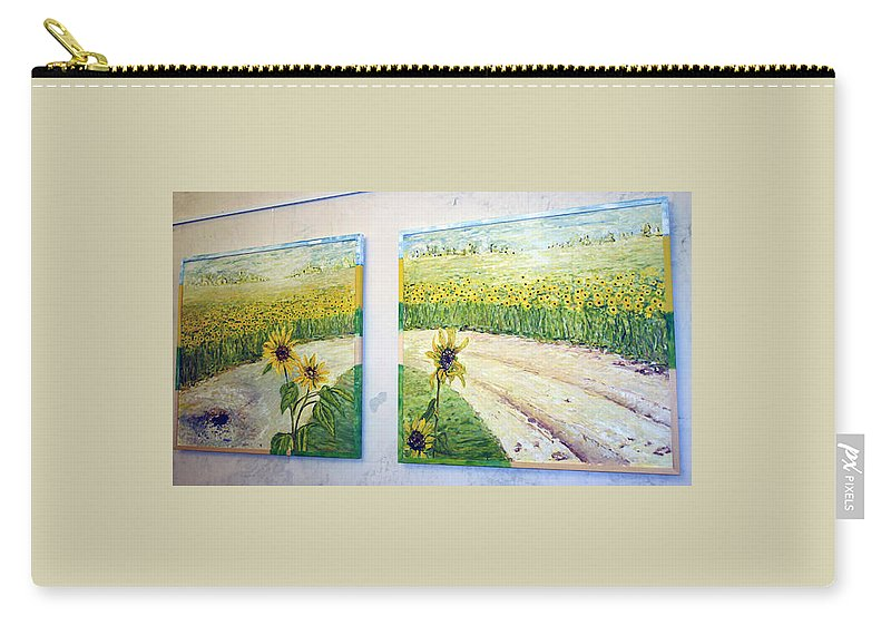 Landscape Carry-all Pouch featuring the painting Kavarna1 by Pablo de Choros