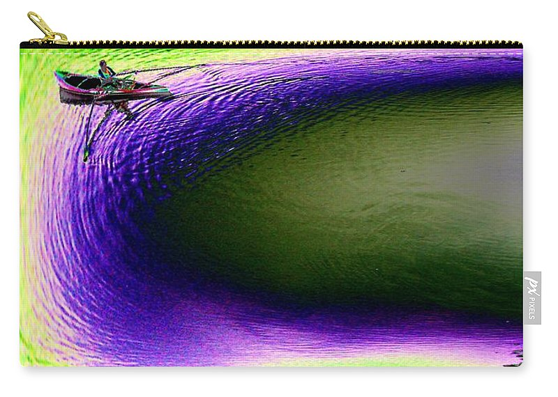 Seattle Carry-all Pouch featuring the digital art Kayak In The Cut by Tim Allen