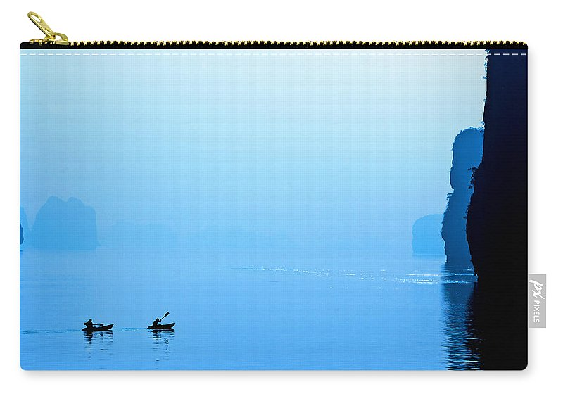 Accomplish Carry-all Pouch featuring the photograph Kayaking by Skip Nall
