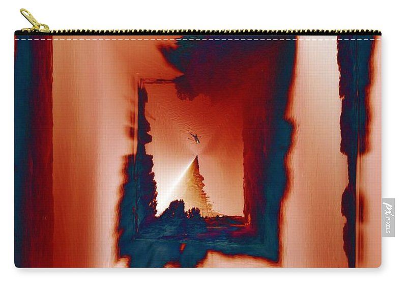 Kayak Carry-all Pouch featuring the photograph Kayaking The Cut by Tim Allen