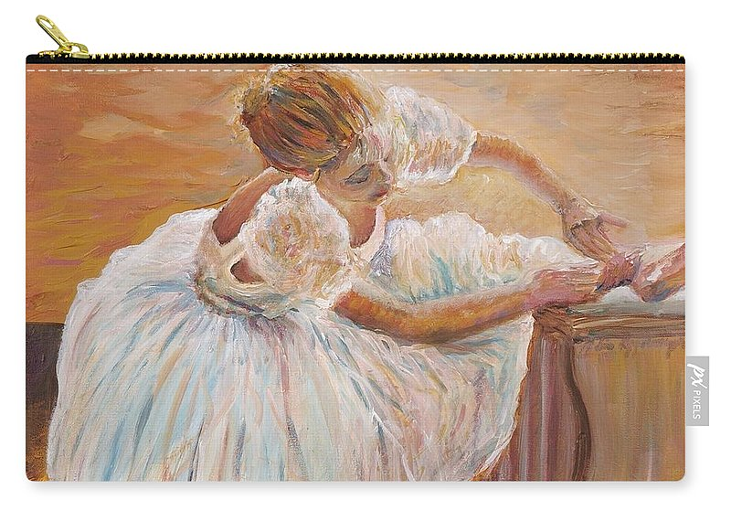 Dancer Carry-all Pouch featuring the painting Kaylea by Nadine Rippelmeyer