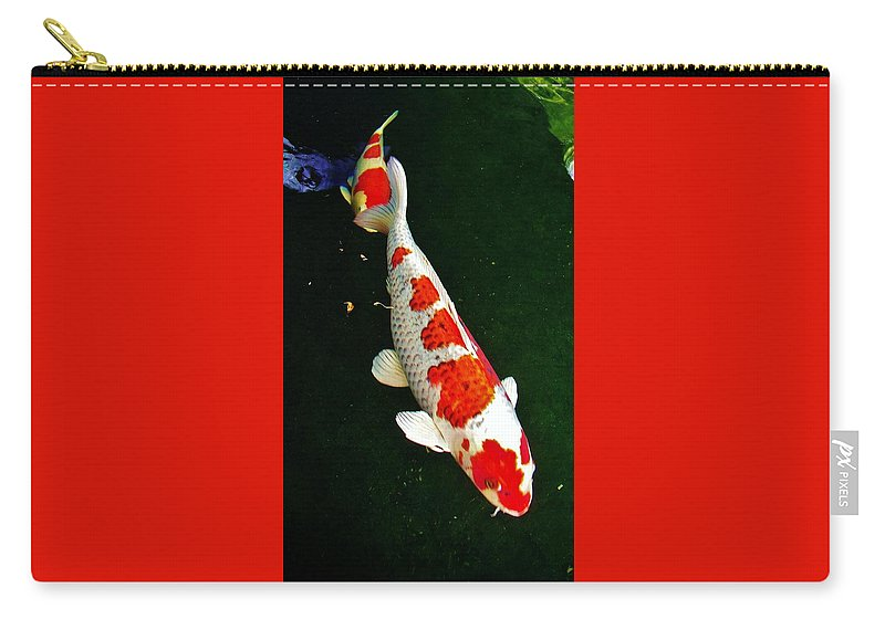 Kcsd Carry-all Pouch featuring the photograph Kcsd Koi 3 2016 by Phyllis Spoor