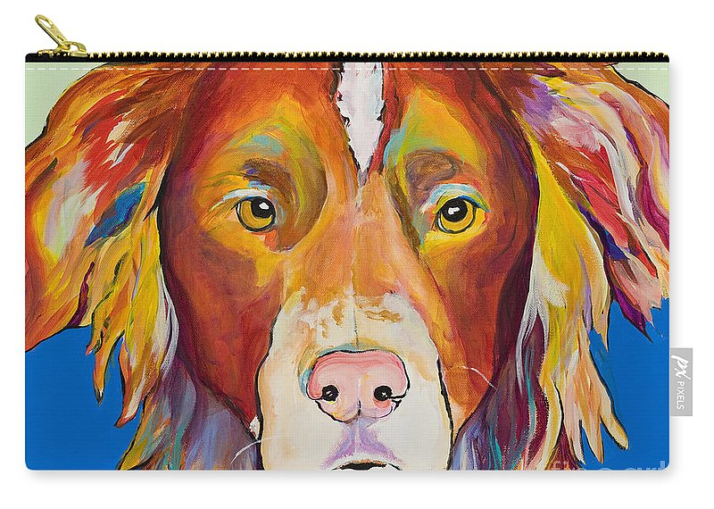 Australian Border Collie Carry-all Pouch featuring the painting Keef by Pat Saunders-White