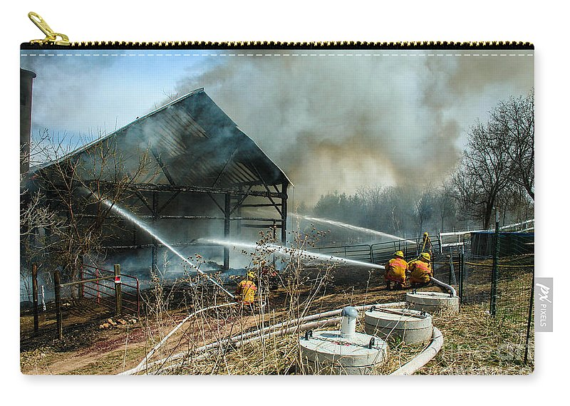 Firefighting Carry-all Pouch featuring the photograph Keep Fire In Your Life #15 by Tommy Anderson
