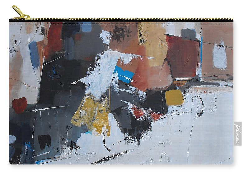 Abstract Carry-all Pouch featuring the painting Keep On Dancin' by Ruth Palmer