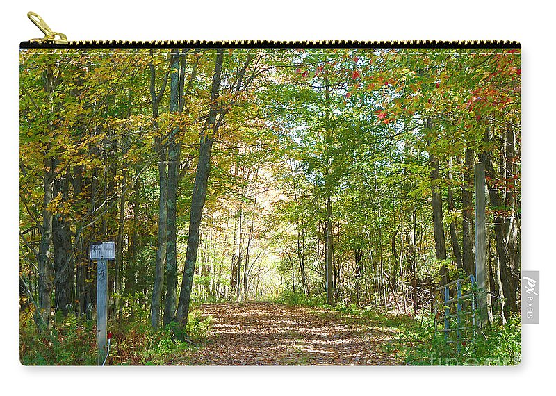 Autumn Carry-all Pouch featuring the photograph Keep Out by Deborah Benoit
