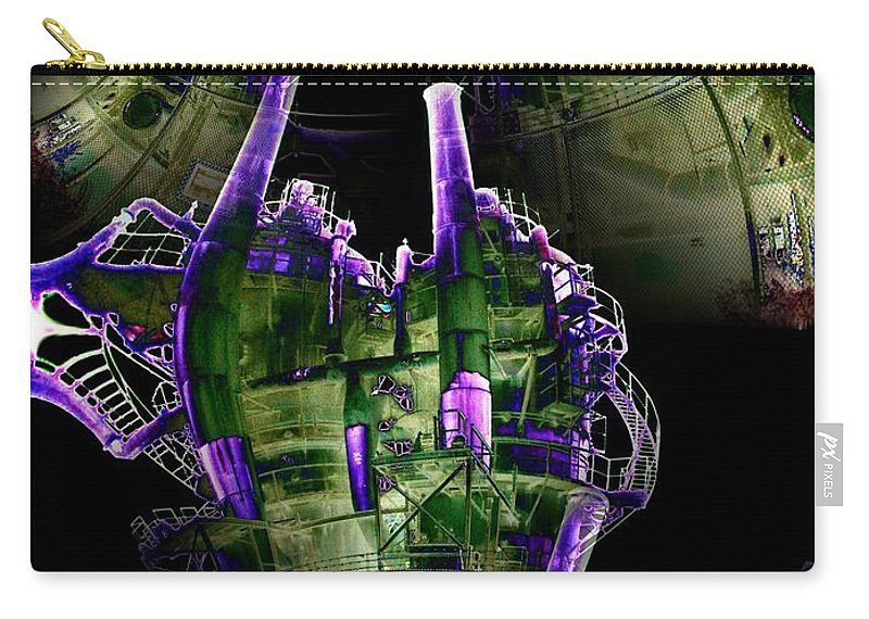 Seattle Carry-all Pouch featuring the digital art Keepers Of The Gasworks by Tim Allen