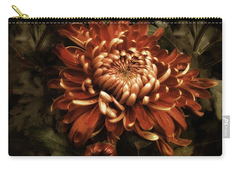 Flowers Carry-all Pouch featuring the photograph Keeping Mum by Jessica Jenney