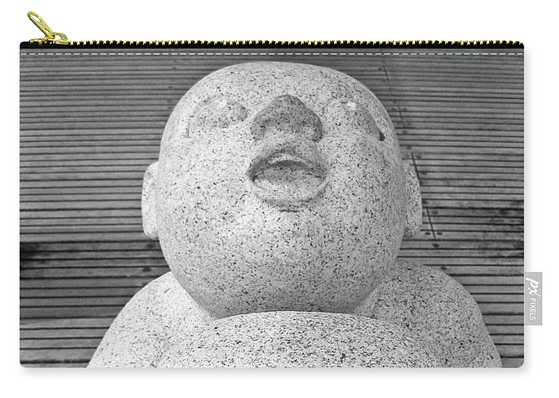 Keihanna Statue Carry-all Pouch featuring the photograph Keihanna Statue No. 39-1 by Sandy Taylor