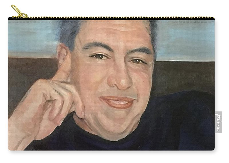 Portrait Carry-all Pouch featuring the painting Ken by Elvie Becker
