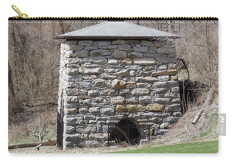 Kent Carry-all Pouch featuring the photograph Kent Iron Furnace by Catherine Gagne