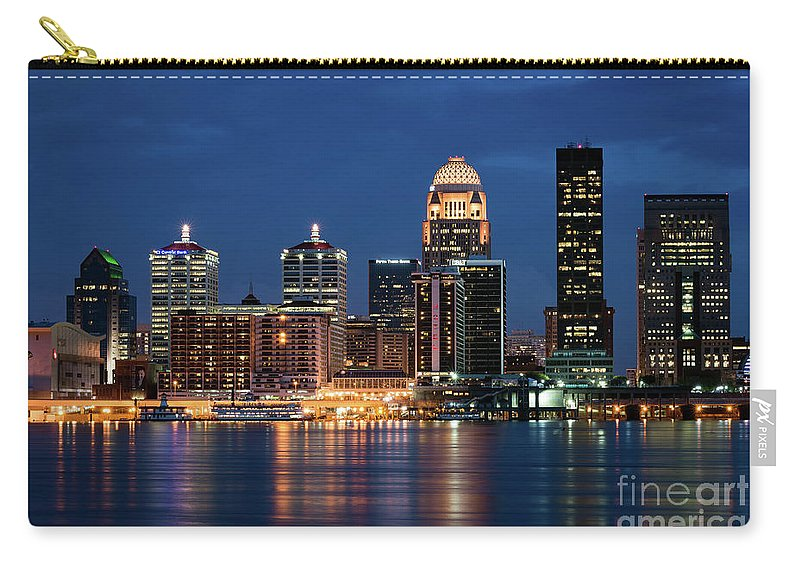 Louisville Carry-all Pouch featuring the photograph Kentucky Blue by Andrea Silies