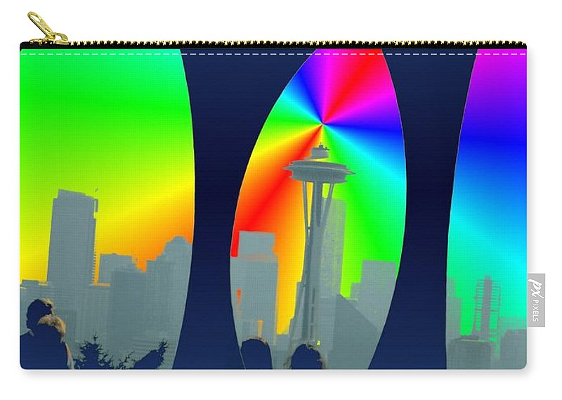 Seattle Carry-all Pouch featuring the digital art Kerry Needle 3 by Tim Allen