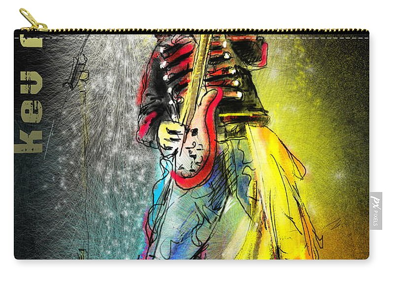 Kev Moore Portrait Carry-all Pouch featuring the digital art Kev Moore by Miki De Goodaboom