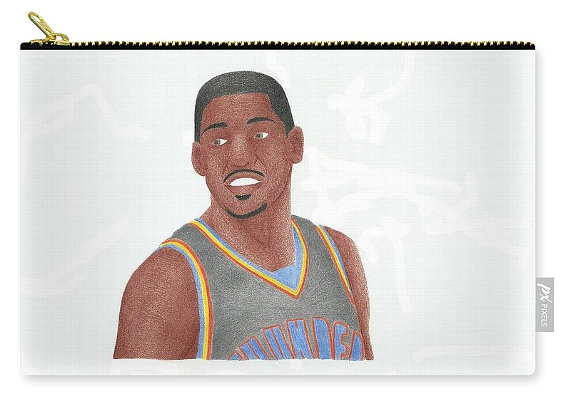 Basketball Carry-all Pouch featuring the drawing Kevin Durant by Toni Jaso