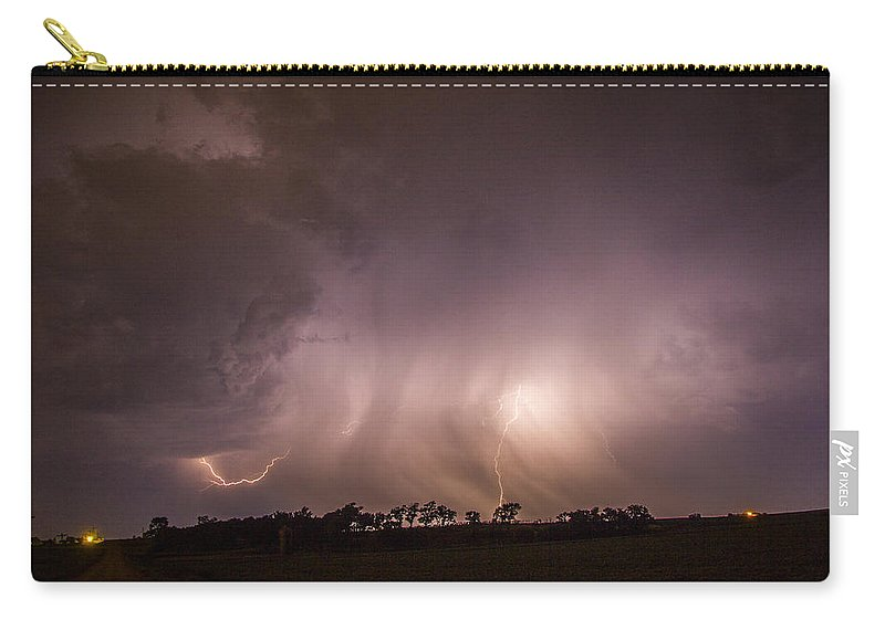 Nebraskasc Carry-all Pouch featuring the photograph Kewl Nebraska Cg Lightning And Krawlers 020 by NebraskaSC