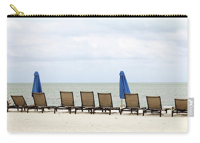 Key Largo Carry-all Pouch featuring the photograph Key Largo Beachfront by Art Block Collections