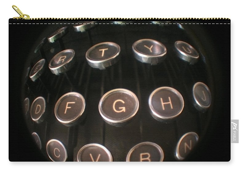 Typewriter Carry-all Pouch featuring the photograph Key To Communication by Jeffery Ball
