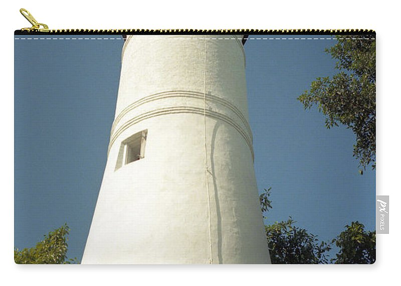 Lighthouses Carry-all Pouch featuring the photograph Key West Lighthouse by Richard Rizzo