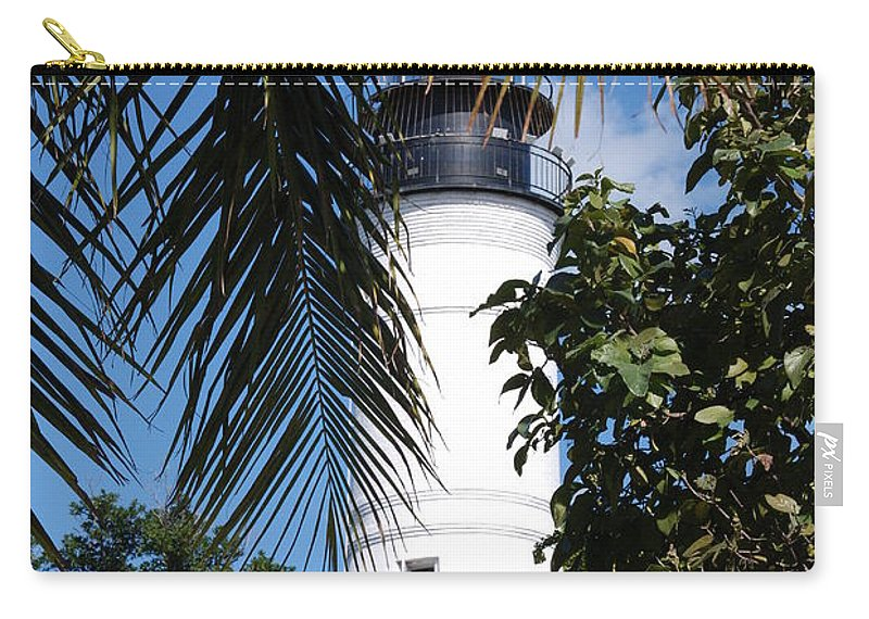 Lighthouse Carry-all Pouch featuring the photograph Key West Lighthouse by Susanne Van Hulst
