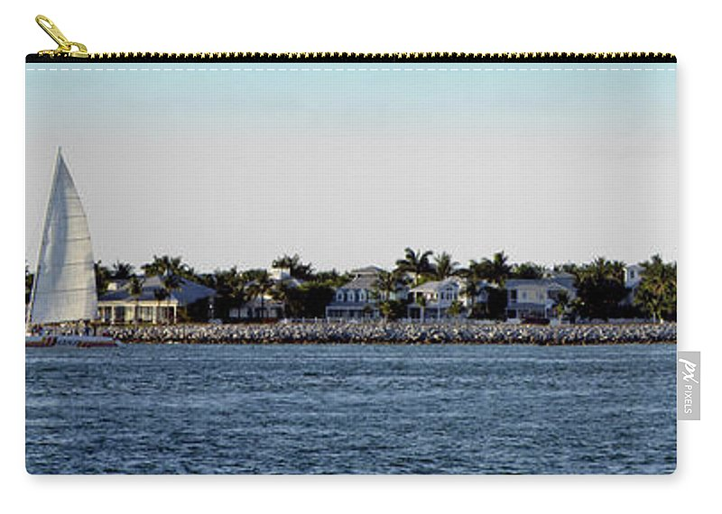 Water Carry-all Pouch featuring the photograph Key West Panorama by Bob Slitzan