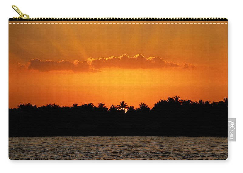 Sunset Carry-all Pouch featuring the photograph Key West Sunset 25 by Bob Slitzan