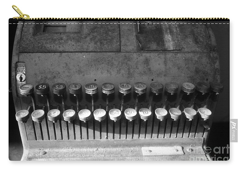 Cash Register Carry-all Pouch featuring the photograph Keys To Commerce by David Lee Thompson