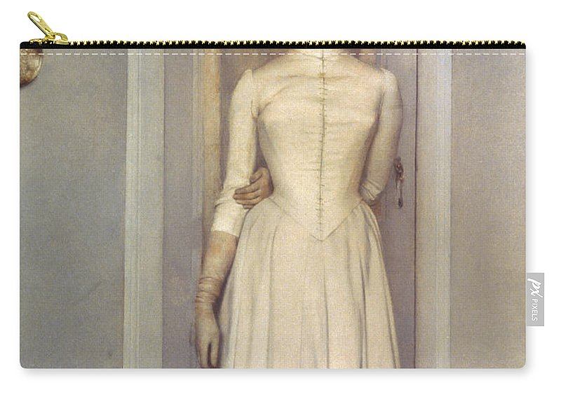 1887 Carry-all Pouch featuring the photograph Khnopff: Sister, 1887 by Granger