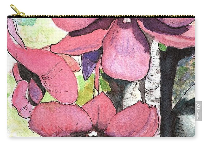 Orchid Carry-all Pouch featuring the painting Kiahuna Orchids by Marionette Taboniar