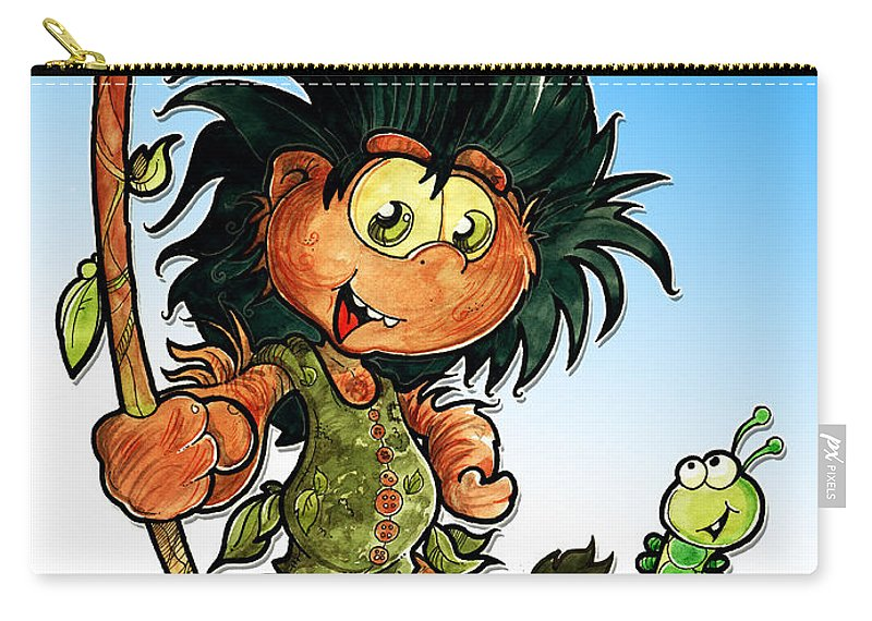 Children Book Carry-all Pouch featuring the painting Kid Troll by Luis Peres