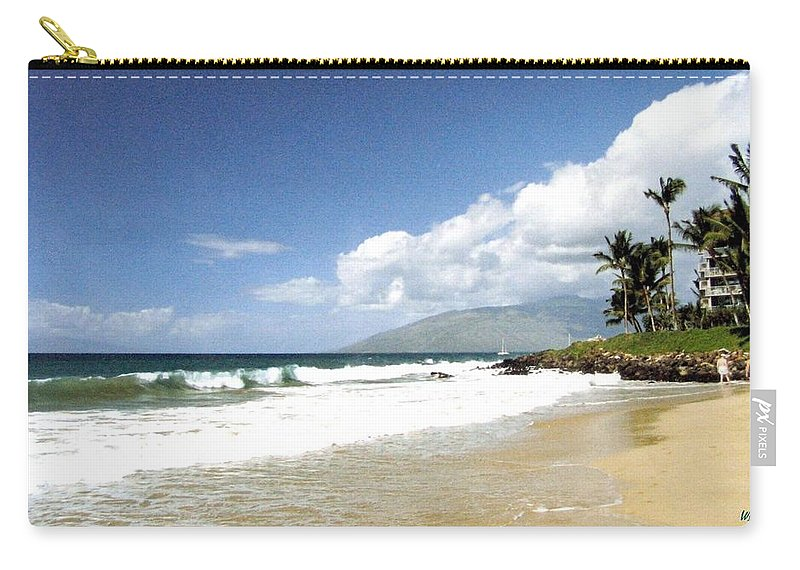 1986 Carry-all Pouch featuring the photograph Kihei by Will Borden